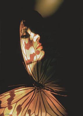 Photograph - Madam Butterfly Card by John Neville Cohen