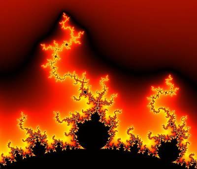 Iteration Photograph - Mandelbrot Fractal by Pasieka