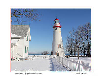 Clouds Rights Managed Images - Marblehead Lighthouse Royalty-Free Image by Jack Schultz