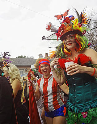Photograph - Mardi Gras Day In New Orleans by Louis Maistros
