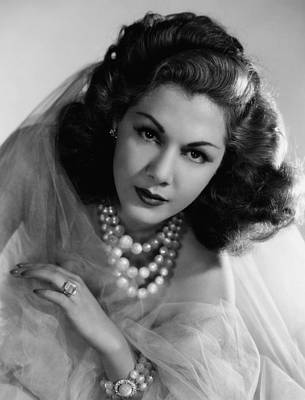 Cocktail Ring Photograph - Maria Montez, 1943 by Everett