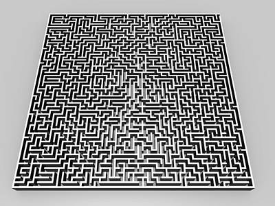 Maze Puzzle Photograph - Maze, Artwork by Pasieka