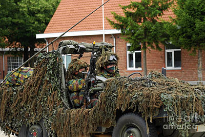 Members Of A Recce Or Scout Team Art Print by Luc De Jaeger
