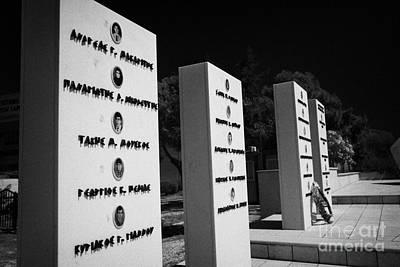Memorial To Those In The Eoka Anti British Uprising And 1974 Turkish Conflict Larnaca Cyprus Art Print by Joe Fox