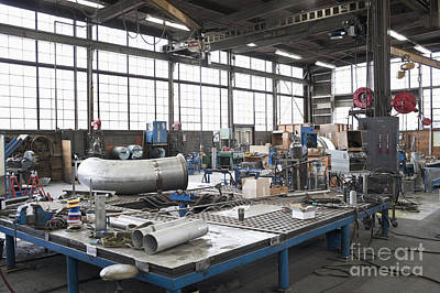 Metal Fabrication Photograph - Metal Fabrication Shop Interior by Jetta Productions, Inc