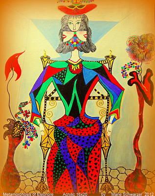 Painting - Metamorphosis Of Eleonore by Marie Schwarzer