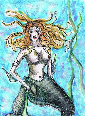 Painting - Mianna Mermaid by Janice T Keller-Kimball