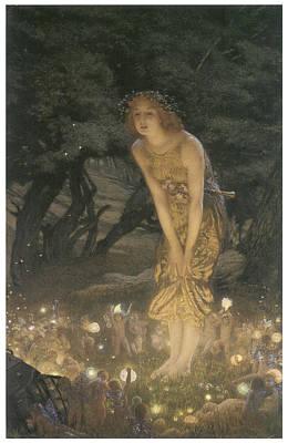 Midsummer Eve Painting - Midsummer Eve by Edward Robert Hughes