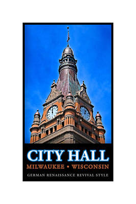 Digital Art - Milwaukee City Hall by Geoff Strehlow