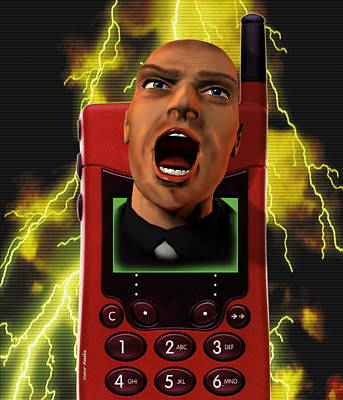 Raging Photograph - Mobile Phone Rage by Victor Habbick Visions