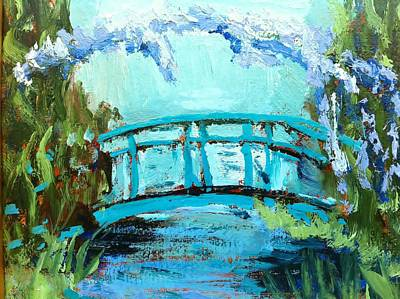 Monet's Bridge Art Print by Joan Bohls