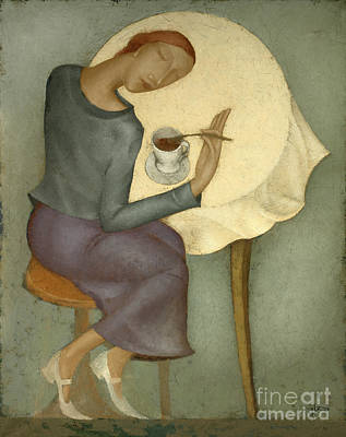Morning Painting - Morning Coffee by Nicolay Reznichenko