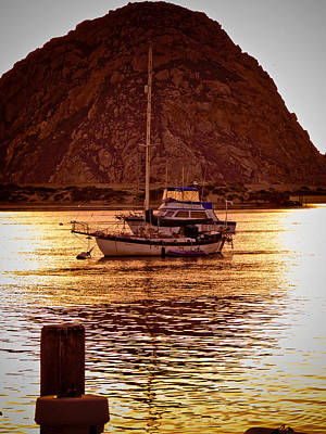 Photograph - Morro Bay Sunset by Mickey Clausen