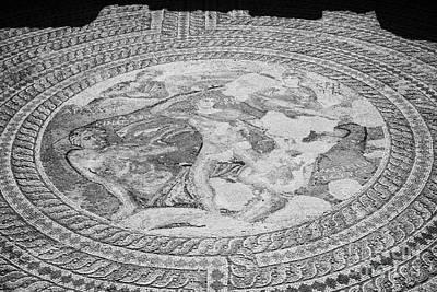 Mosaics On The Floor Of The House Of Theseus Roman Villa At Paphos Archeological Park Cyprus Art Print by Joe Fox