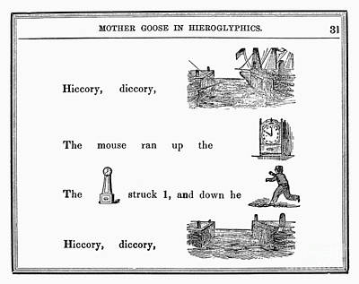 Hickory Dickory Dock Photograph - Mother Goose, 1849 by Granger