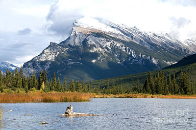 Art Print featuring the photograph Mt Rundle Banff National Park by Bob and Nancy Kendrick