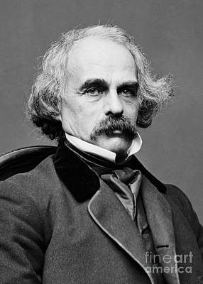 The Scarlet Letter Photograph - Nathaniel Hawthorne, American Author by Photo Researchers
