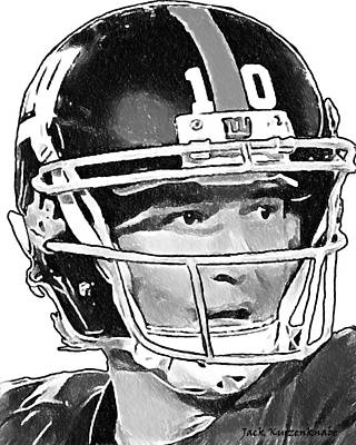 New York Giants  Eli Manning Art Print by Jack K