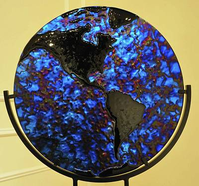 Glass Art - No More Oil II by Michelle Ferry