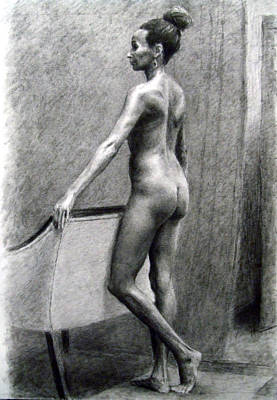 Nudes Painting - Nude Woman by Sumit Mehndiratta