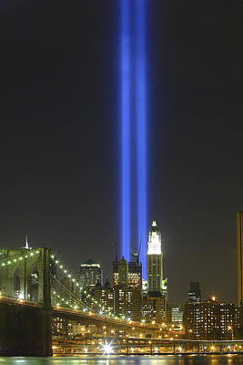 Photograph - Nyc Tribute Lights by Shane Psaltis