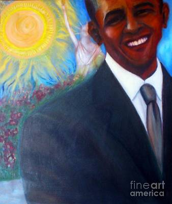 Barack Obama Painting - Obama by Jenny Goldman