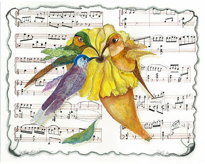 Mixed Media - 2 Of 2 - Natures Symphony-in Three-part Harmony by Joy Braverman