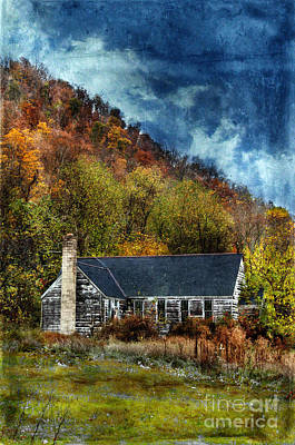 Old Abandoned House In Fall Art Print by Jill Battaglia