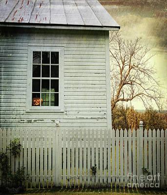 Old Farm  House Window  Art Print by Sandra Cunningham