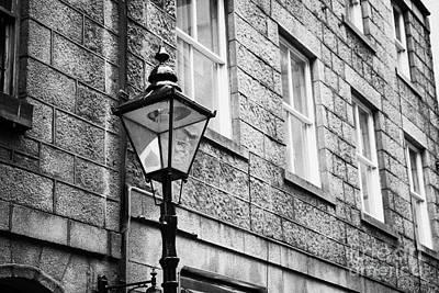 Old Sugg Gas Street Lights Converted To Run On Electric Lighting Aberdeen Scotland Uk Art Print by Joe Fox