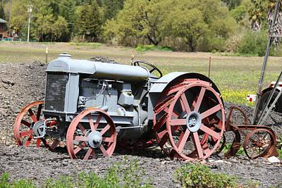 Photograph - Old Tractor by Masha Batkova