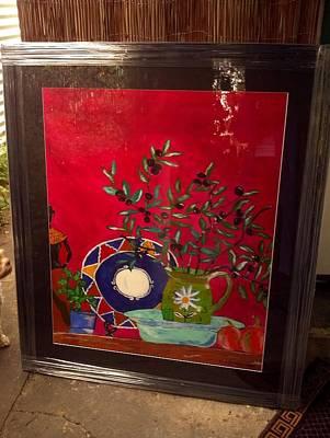 Olives Art Print by Julie Butterworth