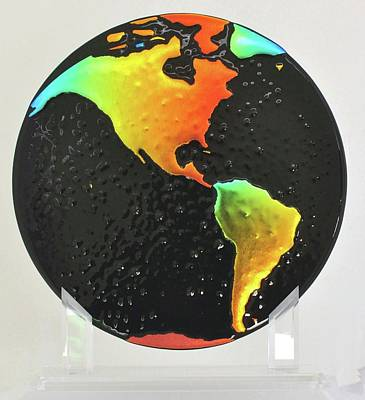 Glass Art - On Dark Days Look For Rainbows by Michelle Ferry