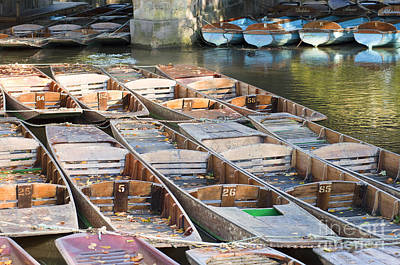 Oxford Photograph - Oxford Punts by Andrew  Michael