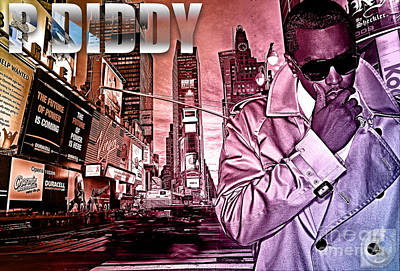P Diddy Art Print by The DigArtisT