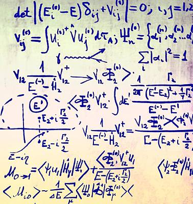Whiteboard Photograph - Particle Physics Equations by Ria Novosti