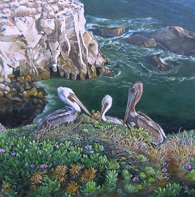 Pelican Point Art Print by Lorna Saiki