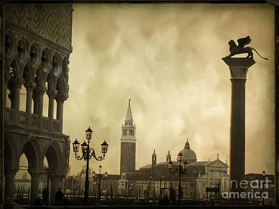 Lion Of St Mark Photograph - Piazetta. Venice by Bernard Jaubert