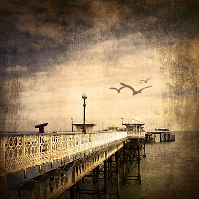 Peaceful Scene Mixed Media - Pier by Svetlana Sewell