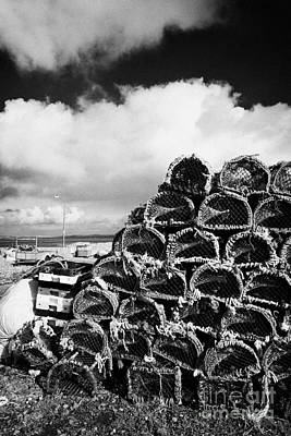 Pile Of Lobster Pots Stacked In The West Coast Of Ireland Art Print