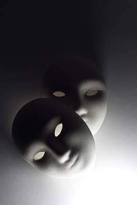 Plaster Masks In Studio Print by Kantapong Phatichowwat