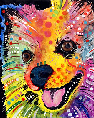 Colorful Dog Wall Art - Painting - Pomeranian by Dean Russo Art