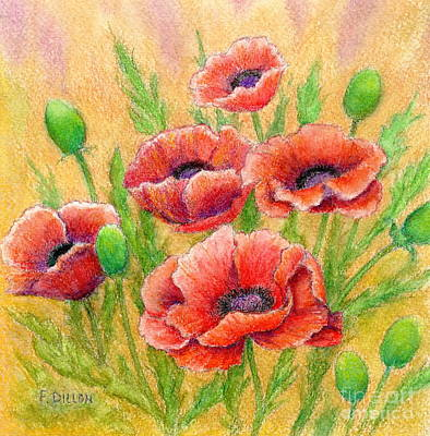 Painting - Poppies by Frances  Dillon