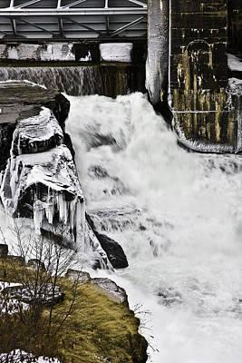 Post Falls Dam Art Print by Grover Woessner
