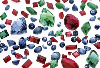 Precious Gemstones Art Print by Lawrence Lawry