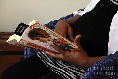 Late Stage Photograph - Pregnant Woman Reading by Photo Researchers