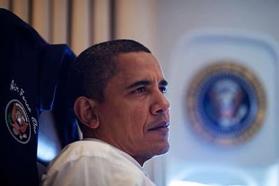 President Barack Obama Listens Art Print by Everett