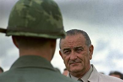 Lyndon Photograph - President Johnson In South Vietnam. Lbj by Everett