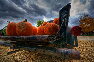 Shelburne Falls Photograph - Pumpkins In The Back by Mike Horvath