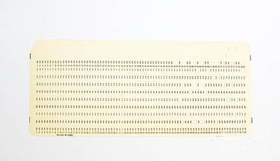 Punch Card Art Print by Photo Researchers, Inc.